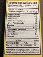 Galleta de Arroz Inflado - Nutrition facts - es