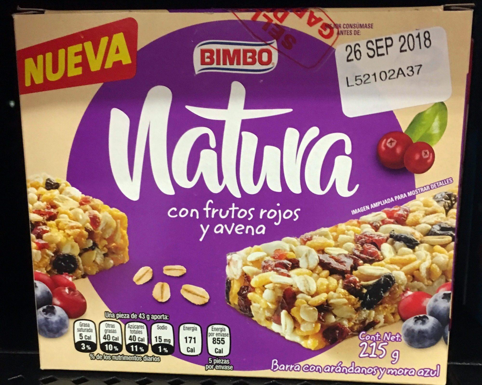 Natura con frutos rojos y avena - Product - es