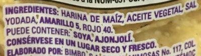 Tostadas onduladas (econo pack) - Ingrediënten
