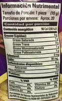 Tostadas onduladas (econo pack) - Voedigswaarden