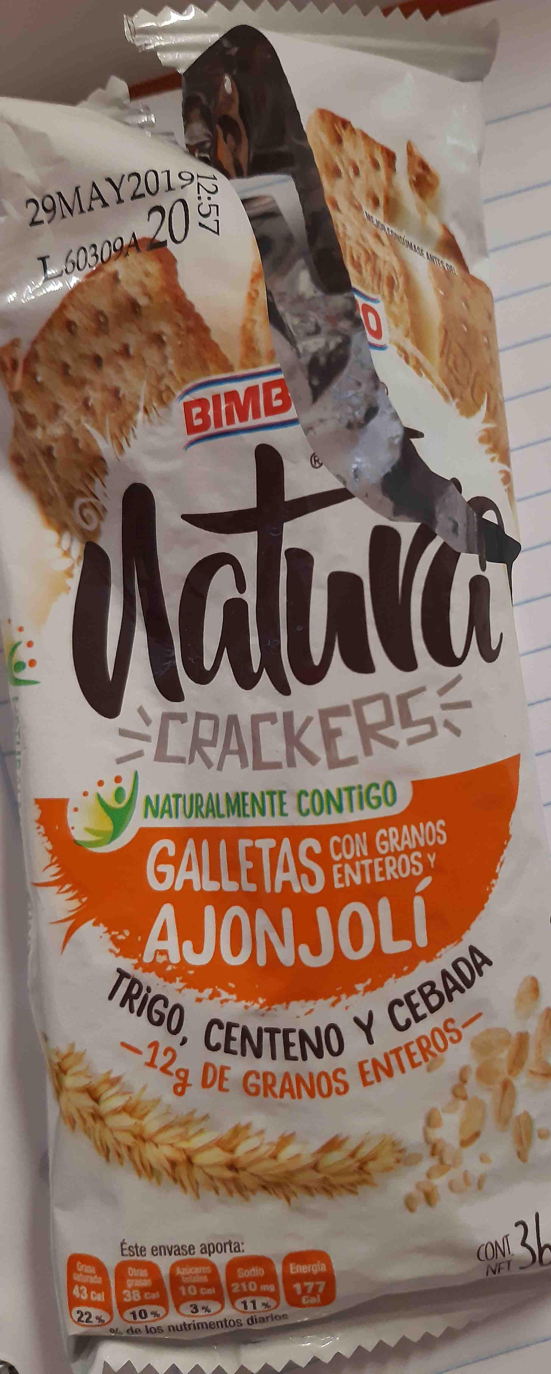 Natura crackers - Producte