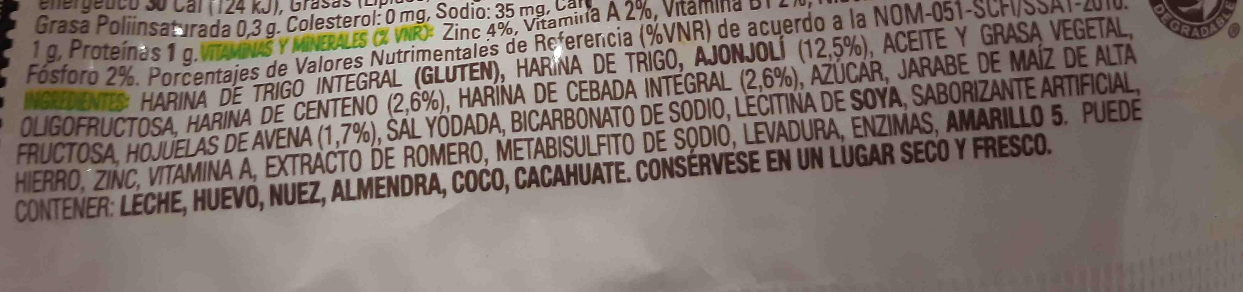 Natura crackers - Ingredients