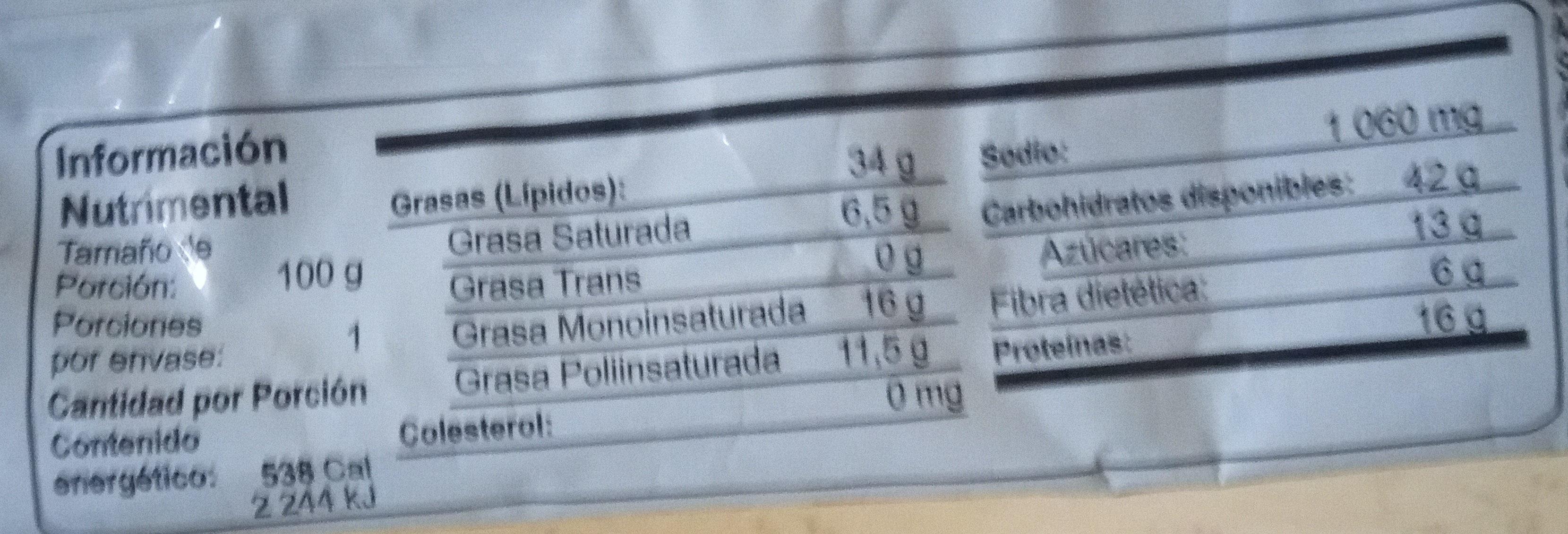 Hot Nuts Original - Nutrition facts - es