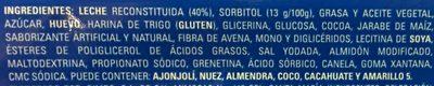 LATTE CREME - Ingrédients - es