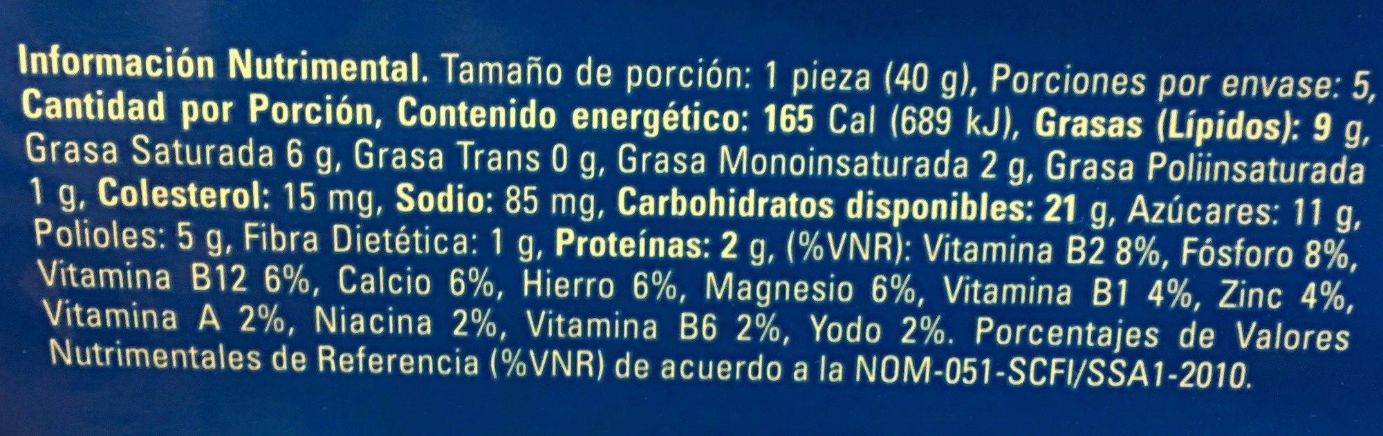 LATTE CREME - Informations nutritionnelles - es