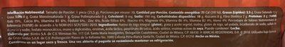 Tortillinas Integrales - Informations nutritionnelles - es