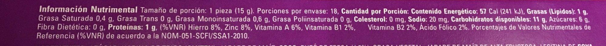 Sponch - Informations nutritionnelles