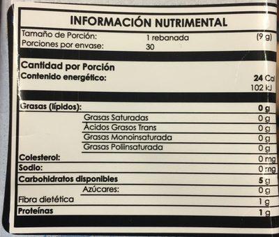 TOSTIS CON FIBRA - Informació nutricional