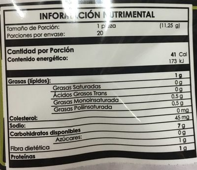 TOSTIS PANECITOS - Nutrition facts