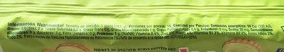 Galletas Príncipe Mousse de Limón Marinela - Voedingswaarden