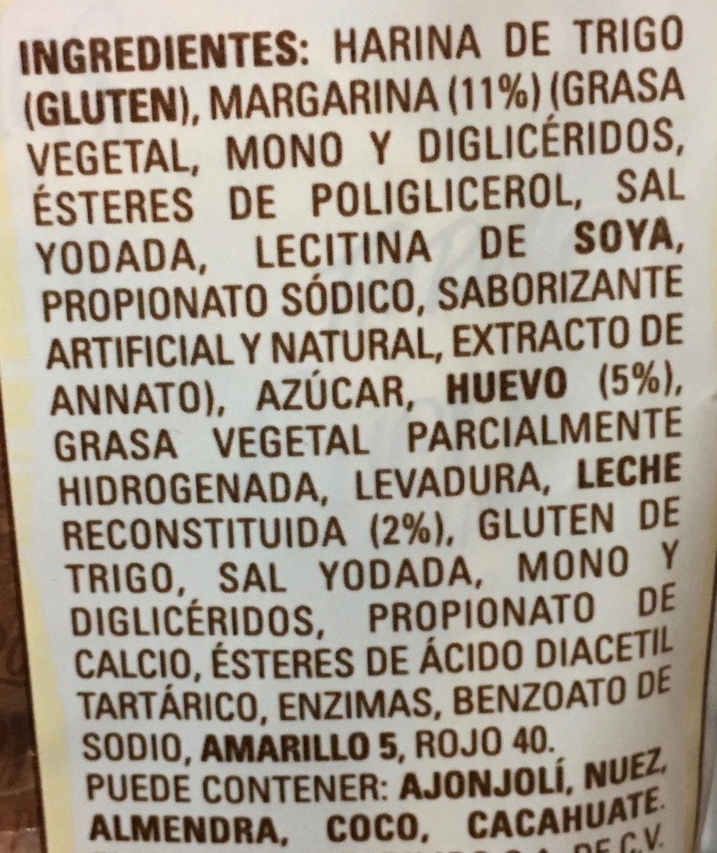CUERNITOS REBANADOS TÍA ROSA - Ingrédients - es