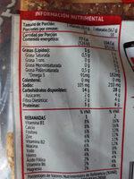 Pan Integral 100% Con Ajonjoli - Información nutricional - es