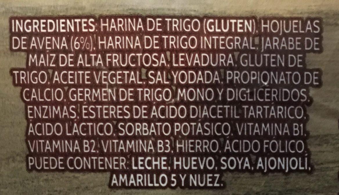 Deli con Avena - Ingrédients - es