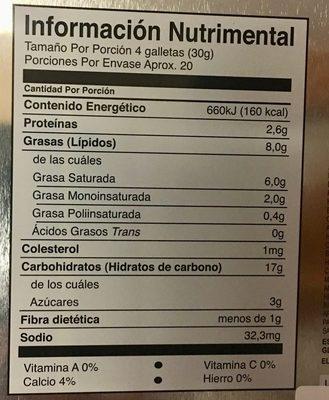 Galletas Cuenta Conmigo - Informations nutritionnelles - es