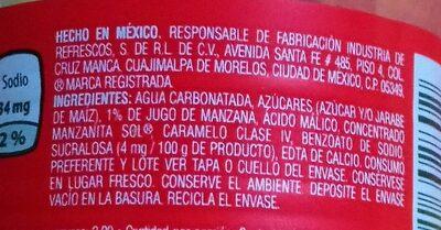 Manzanita Sol - Ingredients