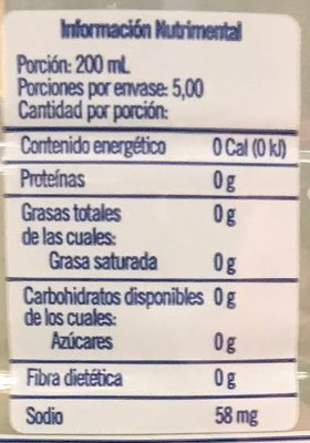 Belight Limón - Nutrition facts - es