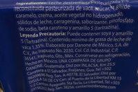 Flan Danette Danone - Ingredients - es