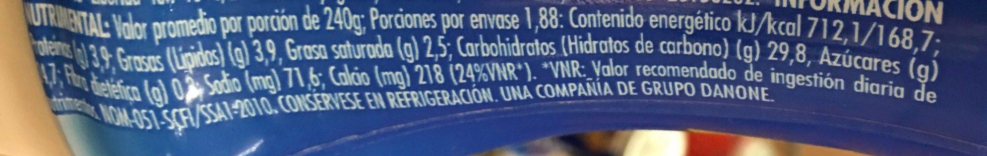 DanUp LICUADO NUEZ Y CEREAL - Voedingswaarden