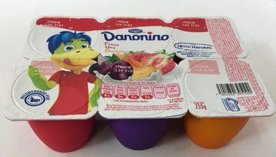 Danonino Fresa, Uva y Durazno 6 pack - Product - es