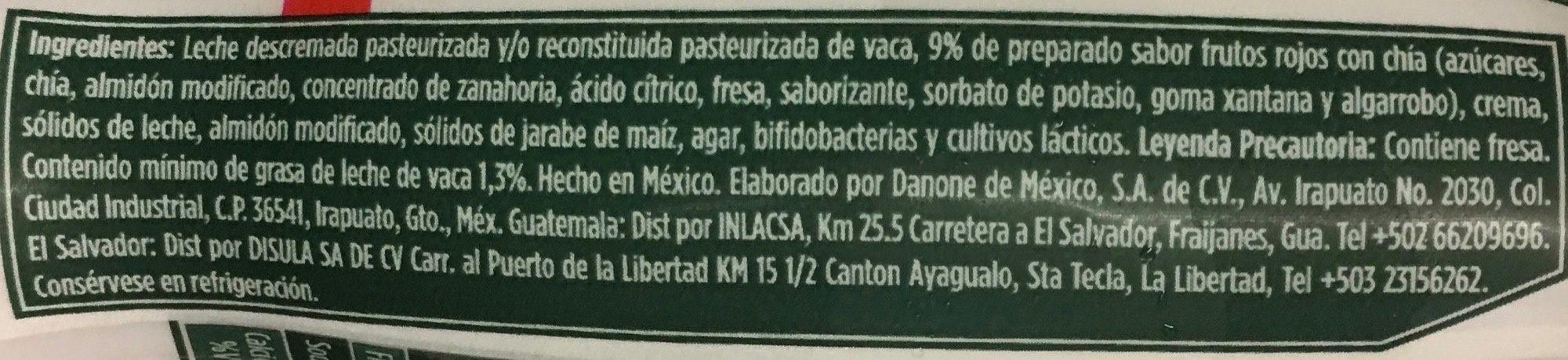 Activia Semillas Selectas Danone - Ingrediënten - es