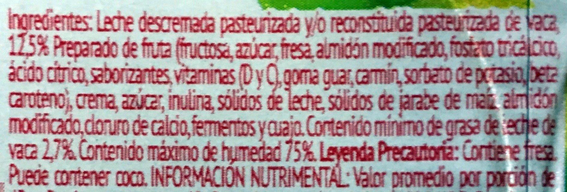 Danonino 12 pck - Ingredients - es