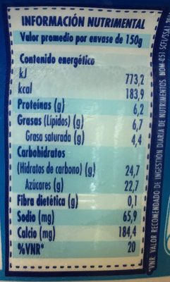 Oikos Frutos caribeños - Nutrition facts - es