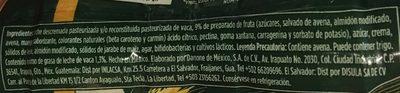 Activia Mango y avena Danone - Ingrediënten