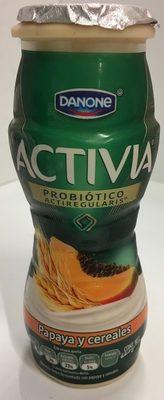Activia papaya y cereales Danone - Product - es
