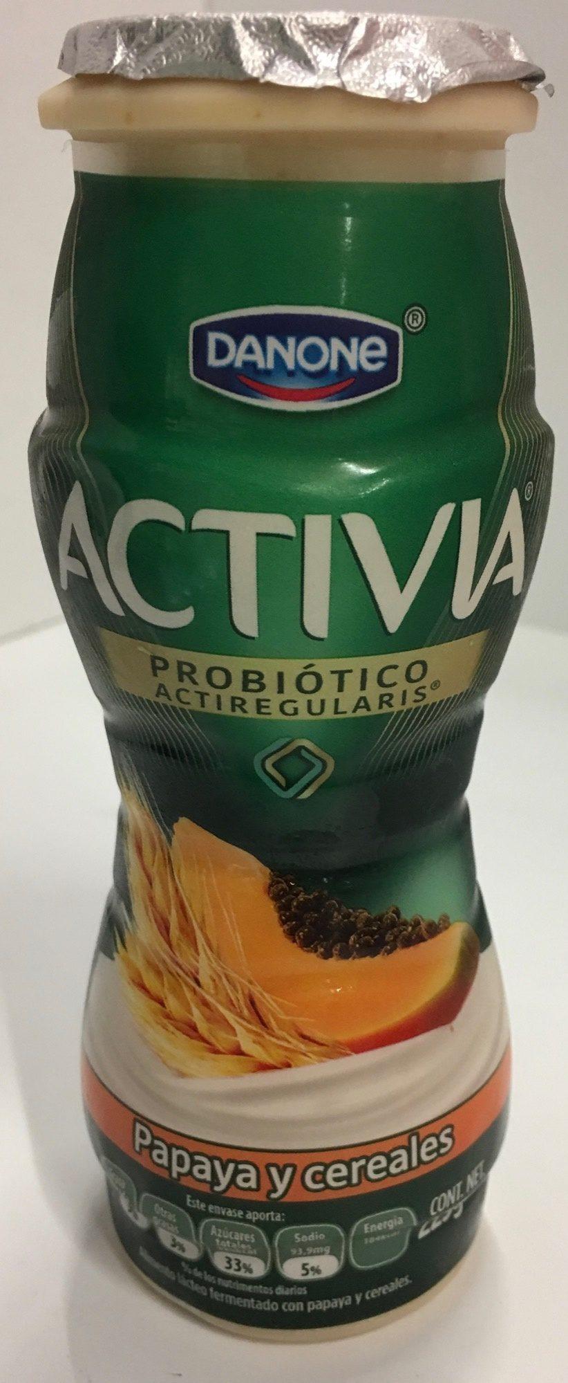 Activia papaya y cereales Danone - Product