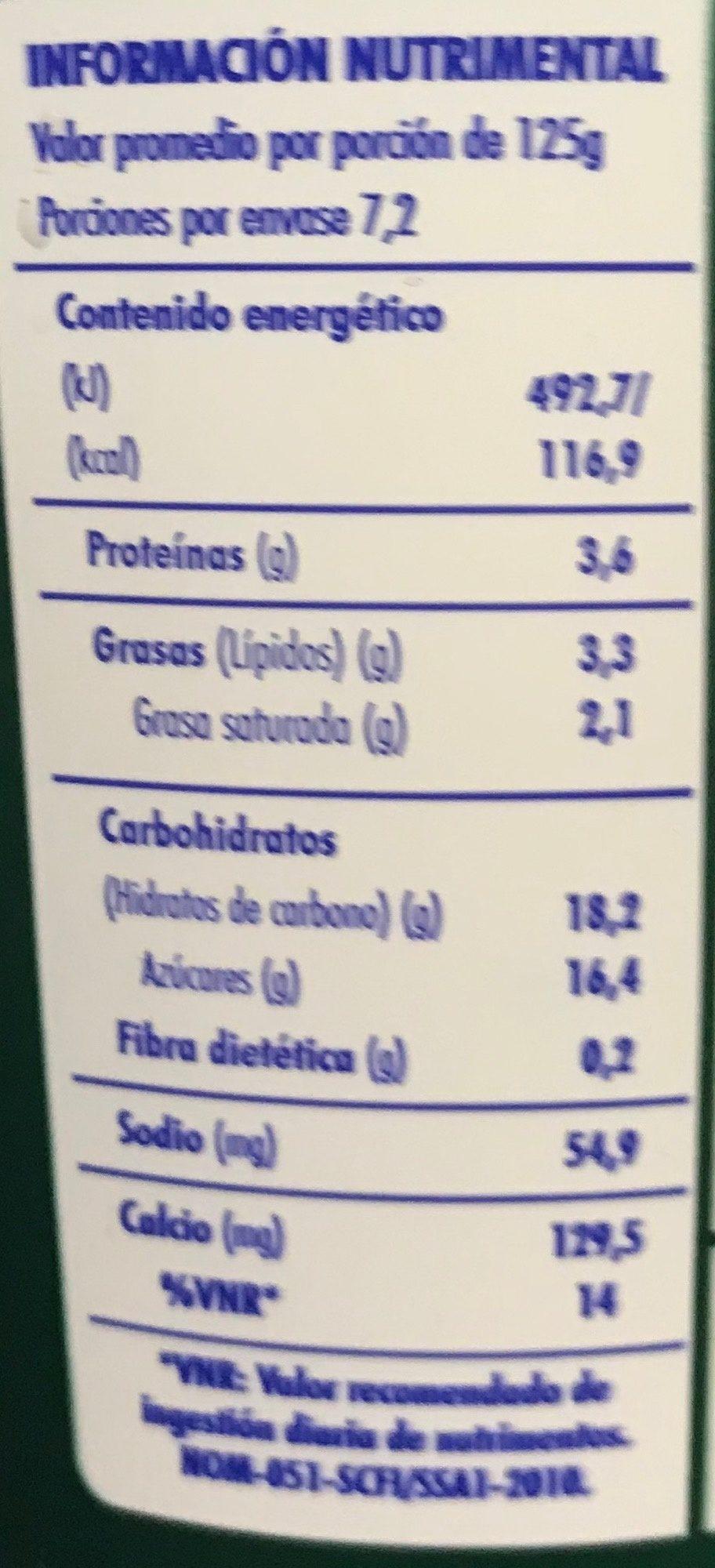 Activia Fresa Danone - Voedingswaarden - es