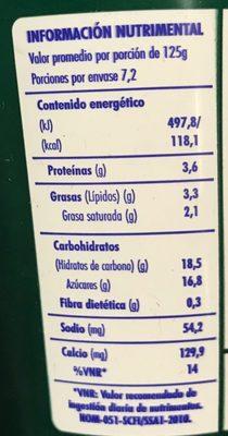 Activia Ciruela Pasa Danone - Voedingswaarden