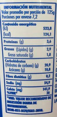 Danone con Fresa - Voedingswaarden - es