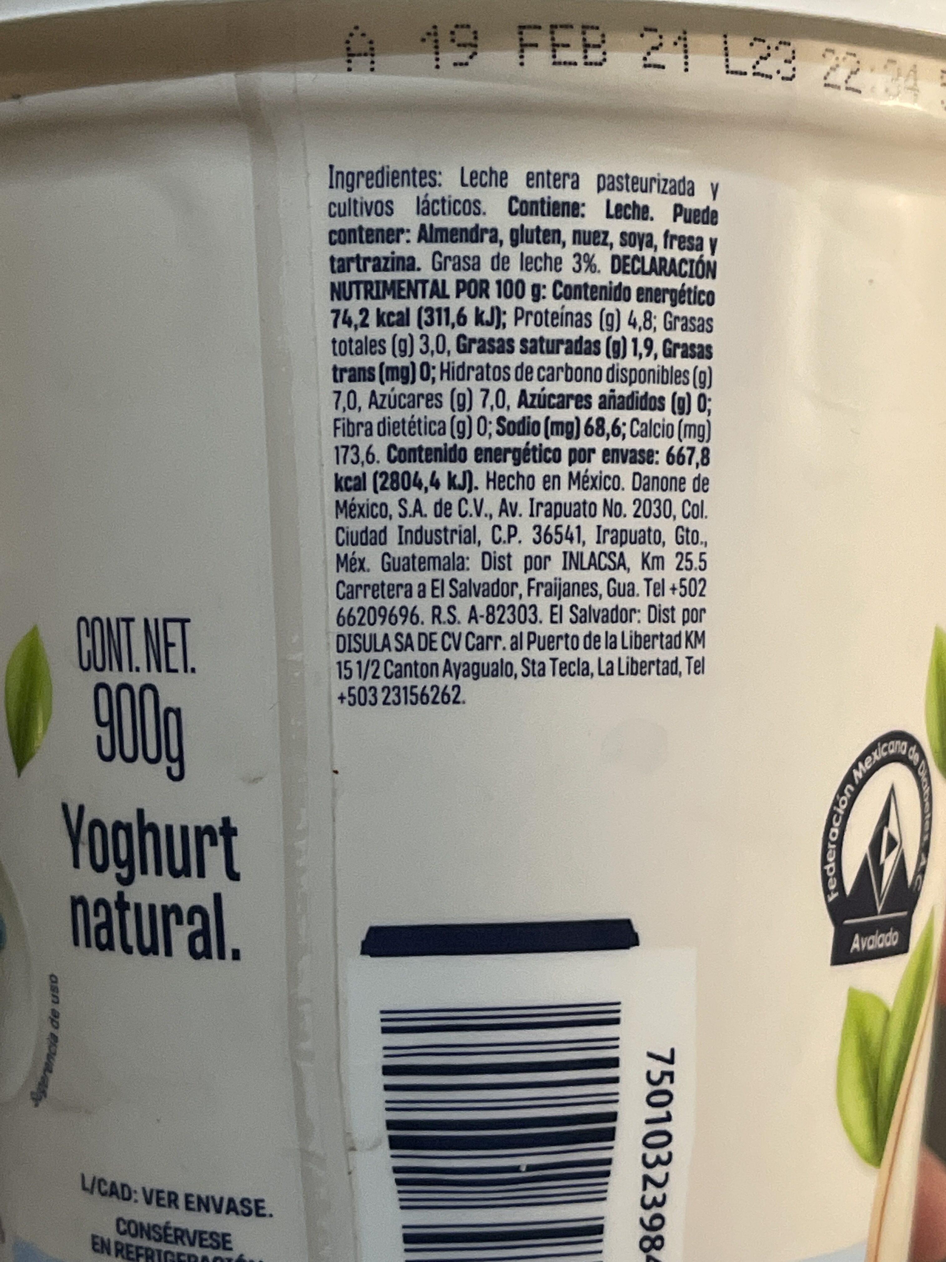 Yogurt - Ingredientes - es