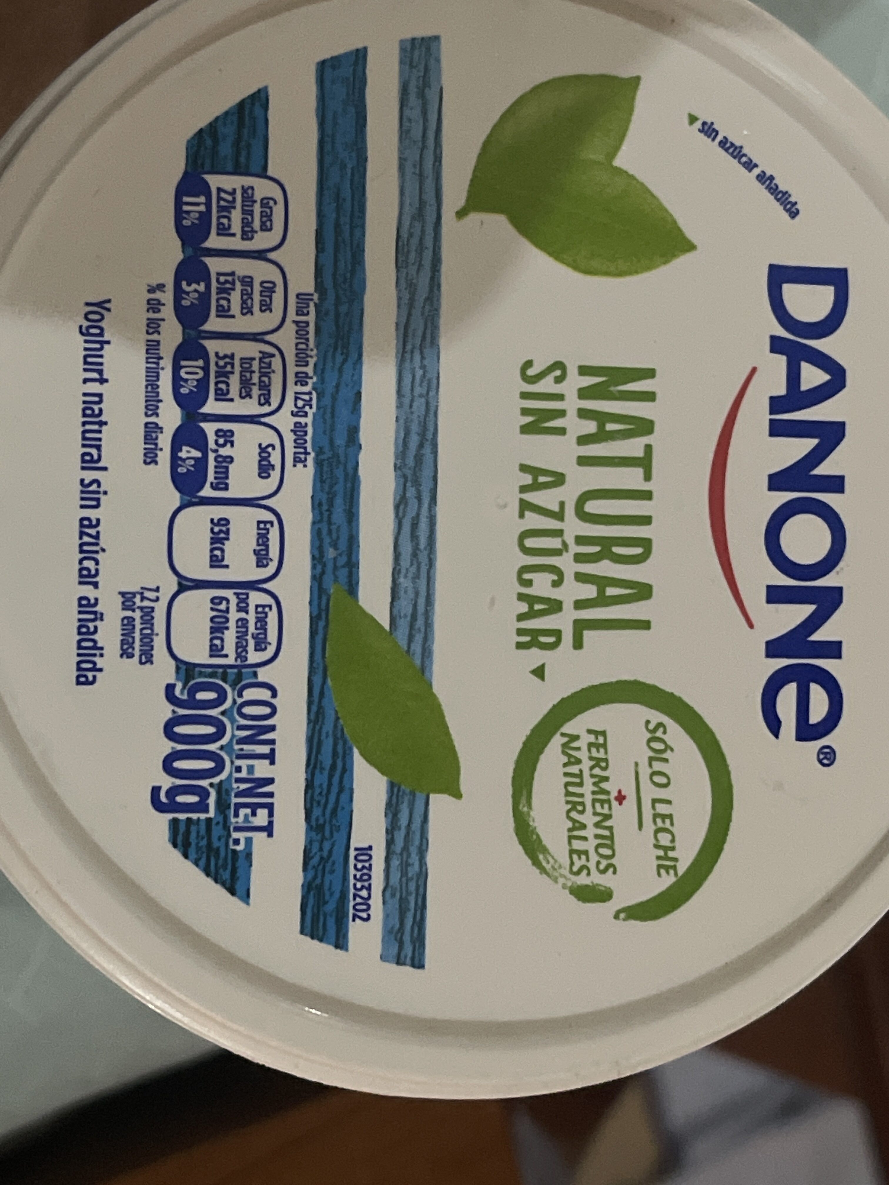 Yogurt - Información nutricional - es