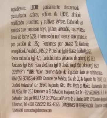Oikos - Información nutricional - es