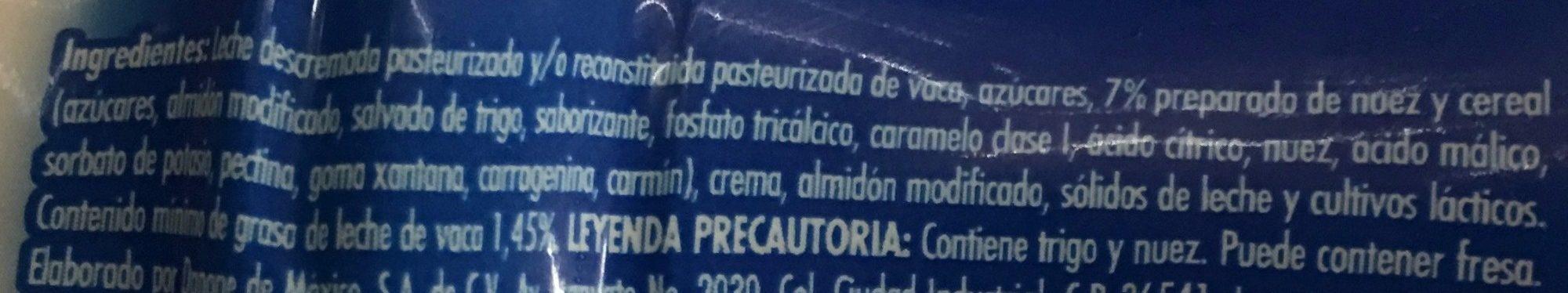 LICUADO NUEZ Y CEREAL - Ingrediënten - es