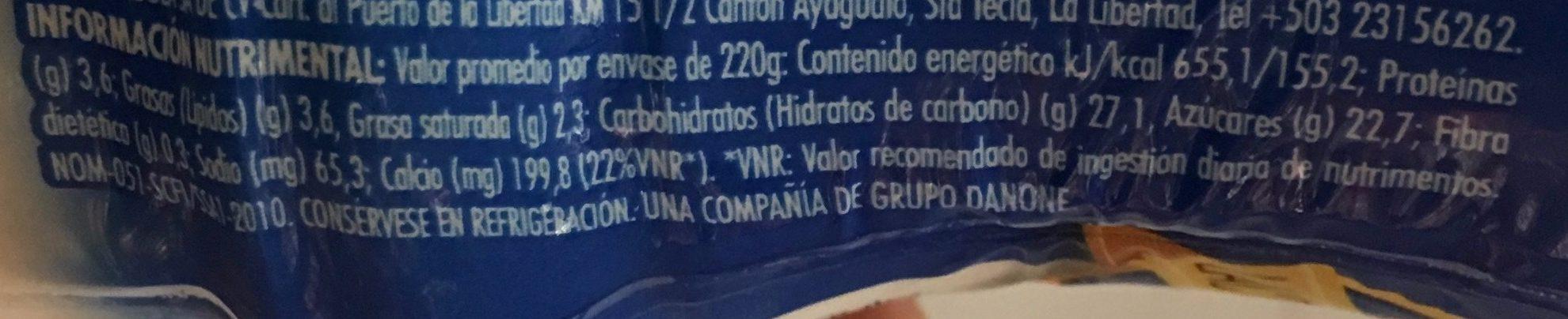 LICUADO NUEZ Y CEREAL - Voedingswaarden - es
