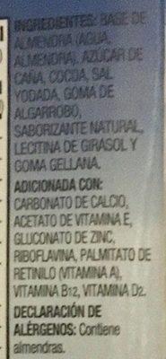 Alimento líquido con almendra sabor chocolate - Ingredientes - es