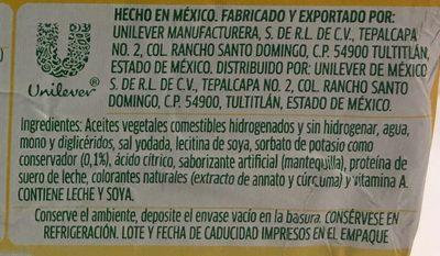 Margarina Sin Sal 4 en 1 Iberia - Ingrediënten