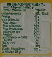 Margarina Sin Sal 4 en 1 Iberia - Voedingswaarden