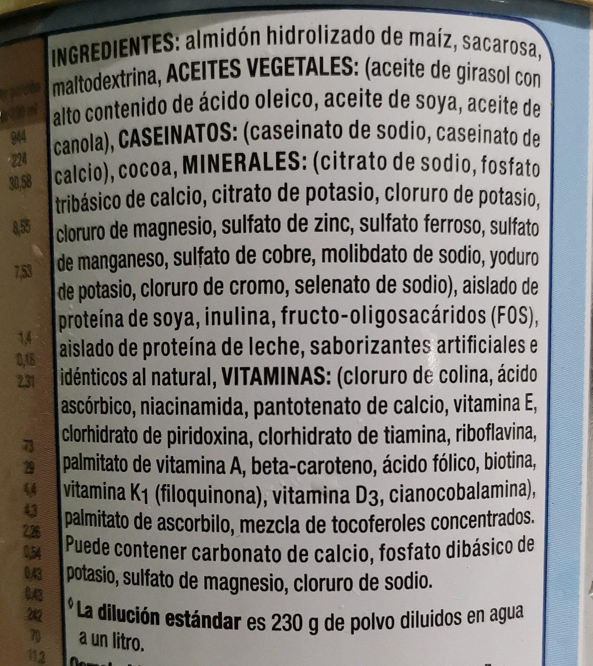 Ensure - Ingredienti - es