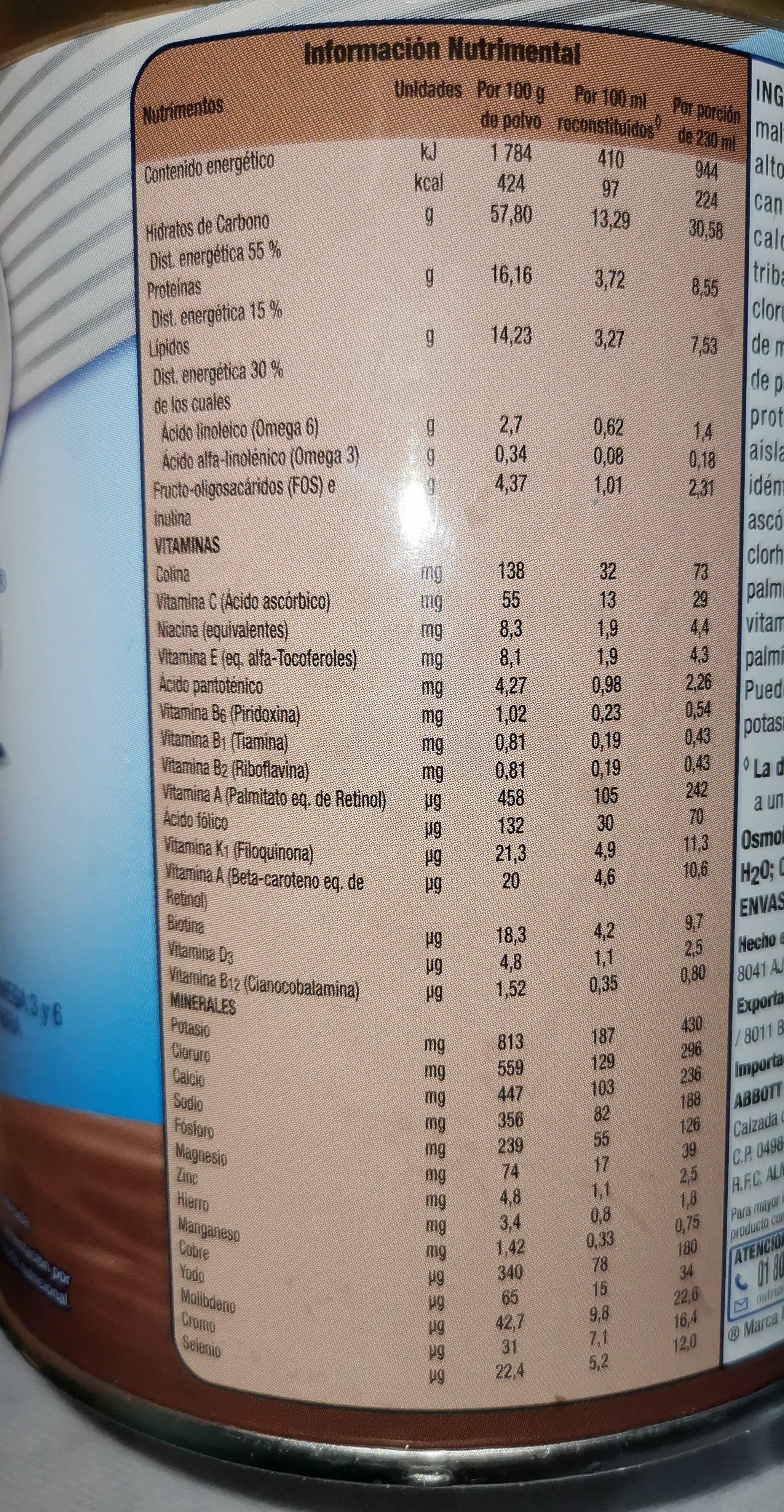 Ensure - Valori nutrizionali - es