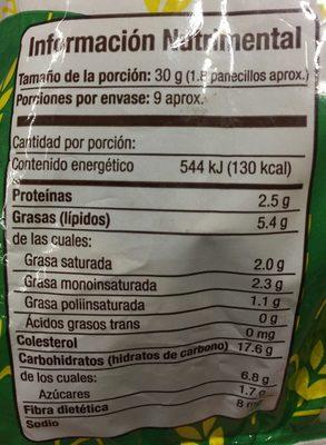 PANECILLOS DE AVENA INTEGRAL TAIFELD'S - Informations nutritionnelles - es