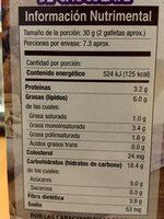 Galletas de avena light - Voedingswaarden - es