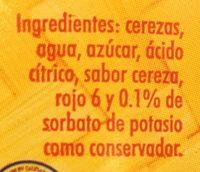 CEREZAS EN ALMÍBAR LOLTUN - Ingredientes - es
