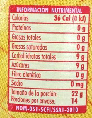 CEREZAS EN ALMÍBAR LOLTUN - Información nutricional - es