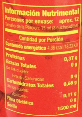 Salsa de soja - Voedingswaarden - es