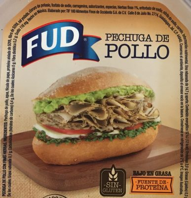 Pechuga de pollo con finas hierbas FUD - Información nutricional - es