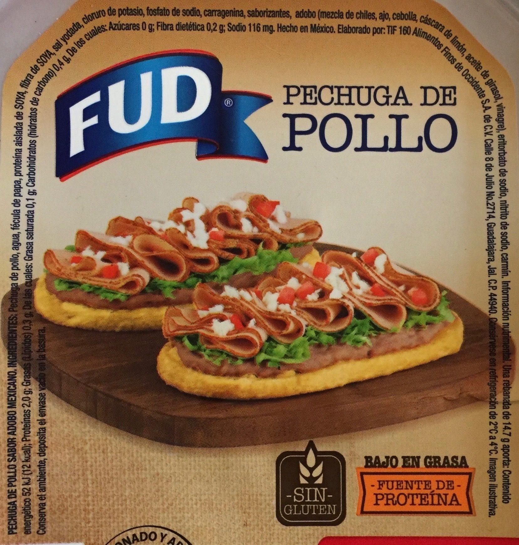 Pechuga de Pollo Adobo Mexicano FUD - Ingredientes - es