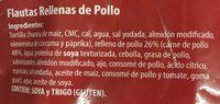 Flautas de Pollo - Ingrediënten - es